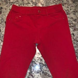 Girls Red Jeggings